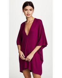 Riller & Fount - Lola Ribbed Caftan Mini Dress - Lyst