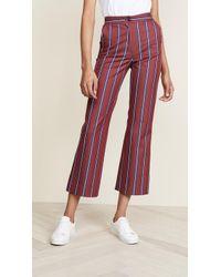 Stella Jean - Straight Leg Striped Pants - Lyst