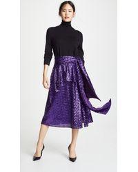 Prabal Gurung - Nima Sequin Tie Waist Skirt - Lyst