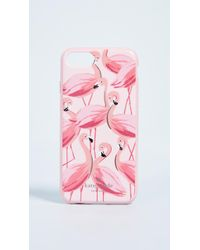 Kate Spade - Painted Flamingos Iphone 7 / 8 Case - Lyst