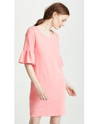 Splendid - Ruffle Sleeve Tee Dress - Lyst