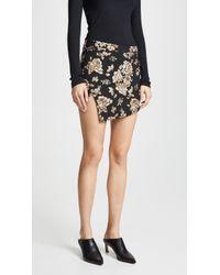 Michelle Mason - Wrap Miniskirt - Lyst