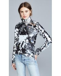 ANOUKI - Silver Sequin Turtleneck - Lyst