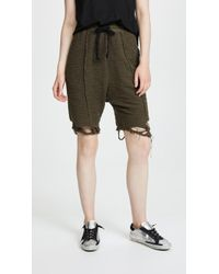 Twenty - Destroyed Hem Sweat Shorts - Lyst