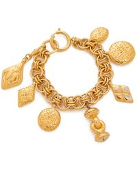 What Goes Around Comes Around - Chanel Charm Bracelet (previously Owned) - Lyst