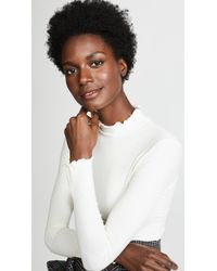 Only Hearts - Rib Mock Neck Tee - Lyst