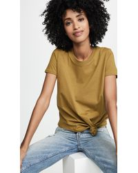 Madewell - Knot Front Tee - Lyst