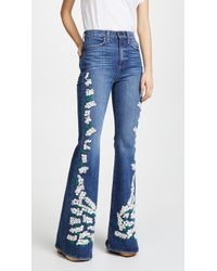 AO.LA by alice + olivia - Beautiful High Bell Jeans - Lyst