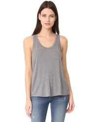 T By Alexander Wang - Classic Cropped Tank With Pocket - Lyst