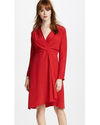 Edition10 - V Neck Slim Dress - Lyst