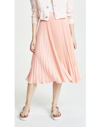 English Factory - Long Pleated Skirt - Lyst