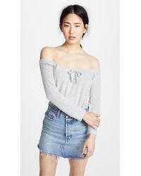 BB Dakota - Hacci Off The Shoulder Sweatshirt - Lyst