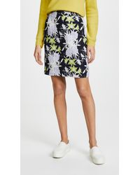 Nina Ricci - Flowers Printed Waffle Skirt - Lyst