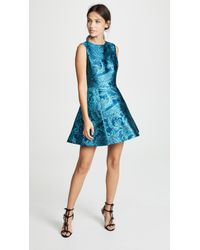 Alice + Olivia - Stasia Deep Pleat Party Dress - Lyst