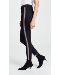 Mother - High Waisted Looker Ankle Jeans With Fraying - Lyst