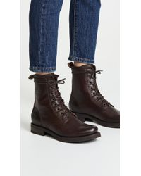 Frye - Veronica Combat Boots - Lyst