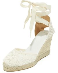 Soludos - Tulip Lace Tall Wedge Espadrille Sandal - Lyst