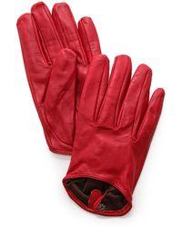 Carolina Amato - Short Leather Gloves - Lyst