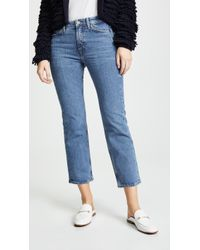 M.i.h Jeans - The Daily Crop High Rise Straight Jeans - Lyst