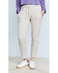 James Perse - Contrast Band Joggers - Lyst
