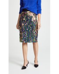 MILLY - Matchstick Pencil Skirt - Lyst