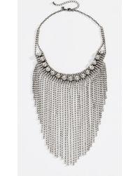 Rebecca Minkoff - Cascading Crystal Fringe Necklace - Lyst