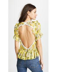 Marissa Webb - Kinley Silk Print Blouse - Lyst