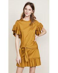 Scotch & Soda - Ruffle Wrap Dress - Lyst