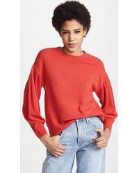 Vince - Pleated Cashmere Crew Jumper - Lyst