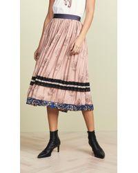 COACH - Pleated Midi Skirt - Lyst
