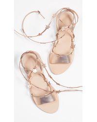 3d29cd5d1fab Lyst - Loeffler Randall Starla Star-detail Leather Lace-up Sandals ...