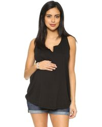 Splendid - Maternity Fit Racer Back Tank - Lyst