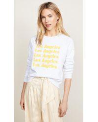 Rebecca Minkoff - Los Angeles Sweatshirt - Lyst
