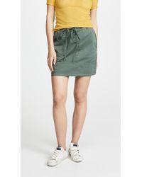 Theory - Stitched Pocket Miniskirt - Lyst