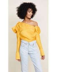 Hellessy - Phacelia Asymmetric Top With Bow - Lyst