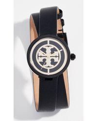 Tory Burch - Reva Leather Watch, 28mm - Lyst