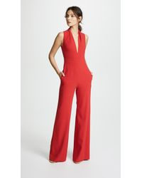 Brandon Maxwell - Rolled Collar Jumpsuit - Lyst