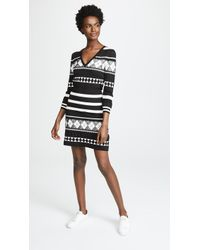 Boutique Moschino - Patterned Stripe Dress - Lyst