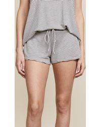 Eberjey - Sadie Stripes Drawstring Shorts - Lyst