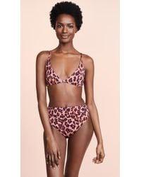 429195137cf Stella McCartney 90's One Shoulder Bikini Top in Yellow - Lyst