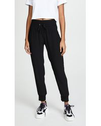 Monrow - High Waisted Cuff Pants - Lyst