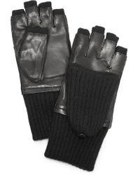 Carolina Amato - Leather & Cashmere Gloves - Lyst
