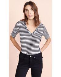 Three Dots - Bali Stripe Half Sleeve Tee - Lyst