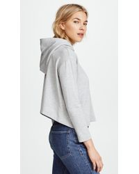 Enza Costa - Cropped Hoodie - Lyst