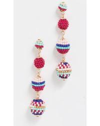 Rebecca Minkoff - Blair Beaded Ball Earrings - Lyst