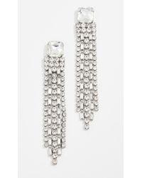 Kate Spade - Glitzville Chain Fringe Earrings - Lyst