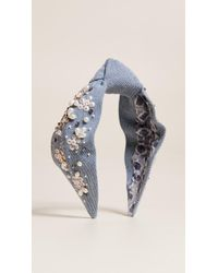 NAMJOSH - Denim Embellished Headband - Lyst