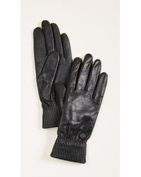 Canada Goose - Leather Rib Gloves - Lyst