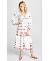 9seed - Majorca Long Sleeve Ruffle Tier Maxi Dress - Lyst