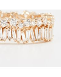 Suzanne Kalan - Fireworks 18k Gold Diamond Double Band Ring - Lyst